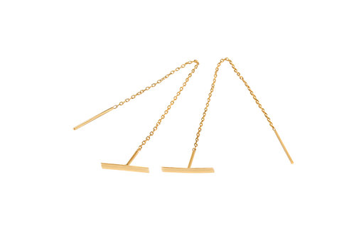 Evette Stud and Chain Earrings