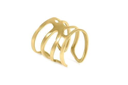statement cuff bracelet,gold cuff,cuff bracelet,brooklyn jeweler,custom jewelry,brass cuff bracelet,katherine lincoln jewelry