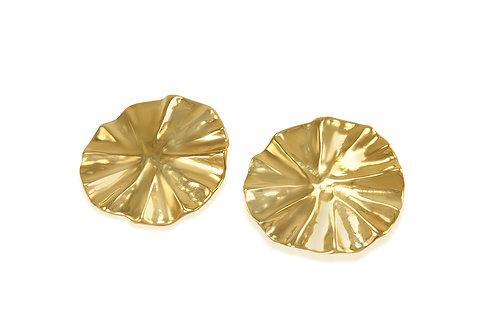 statement earrings, katherine lincoln, brooklyn jeweler, organic earrings, stud earrings