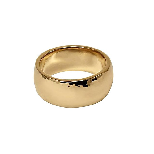 Hammered Cigar Band Style Ring - 10mm