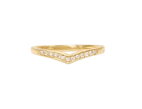 Slender High Point Ring
