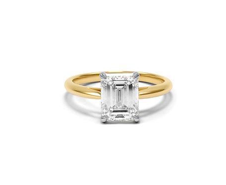 emerald cut diamond, engagement ring, emerald cut diamond ring, katherine lincoln, custom engagement ring, diamond ring
