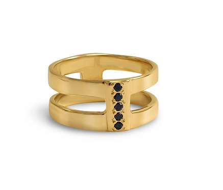 Double Barrel Salome Ring