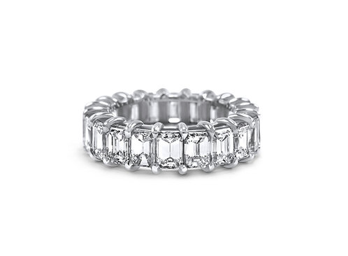 Ioanna Emerald Cut Diamond Eternity Band