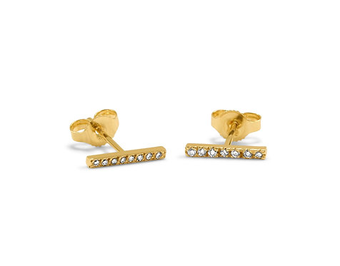 *Classic Diamond Bar Earrings Currently