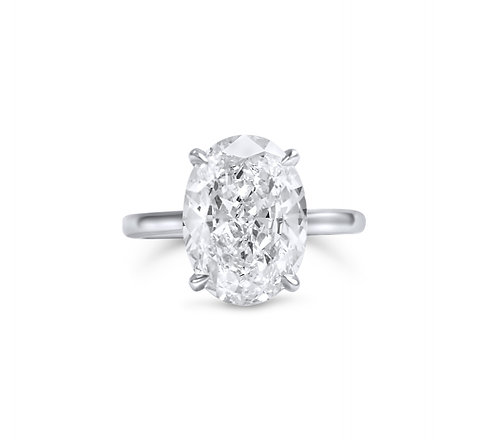 Signature Elliptic Engagement Stunner in Platinum