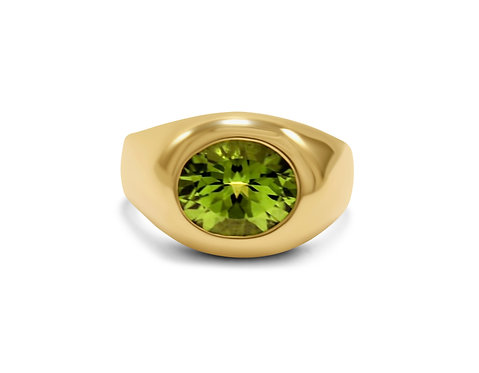Peridot Amour Ring