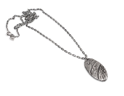 Custom Hand Carved Raven Necklace