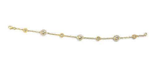 Natural Diamond Chain Love Bracelet