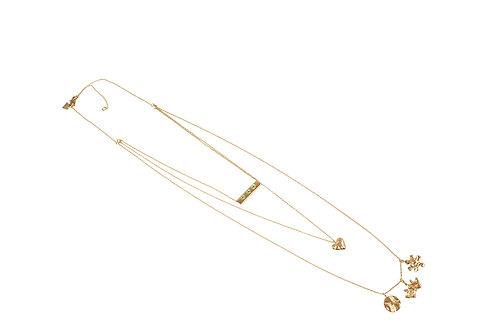 14k Layered Custom Mama Necklace