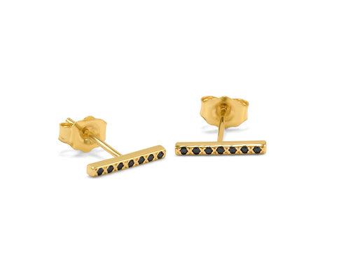 Classic Diamond Bar Earrings