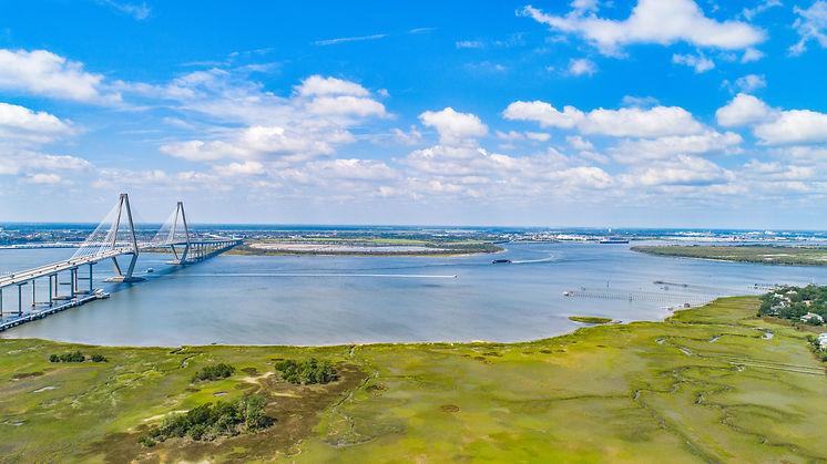 Charleston, South Carolina, USA Ravenel Bridge Aerial..jpg