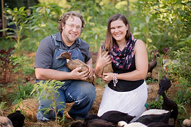 Joey and Laura Walker of Loudoun County Farms with ducks