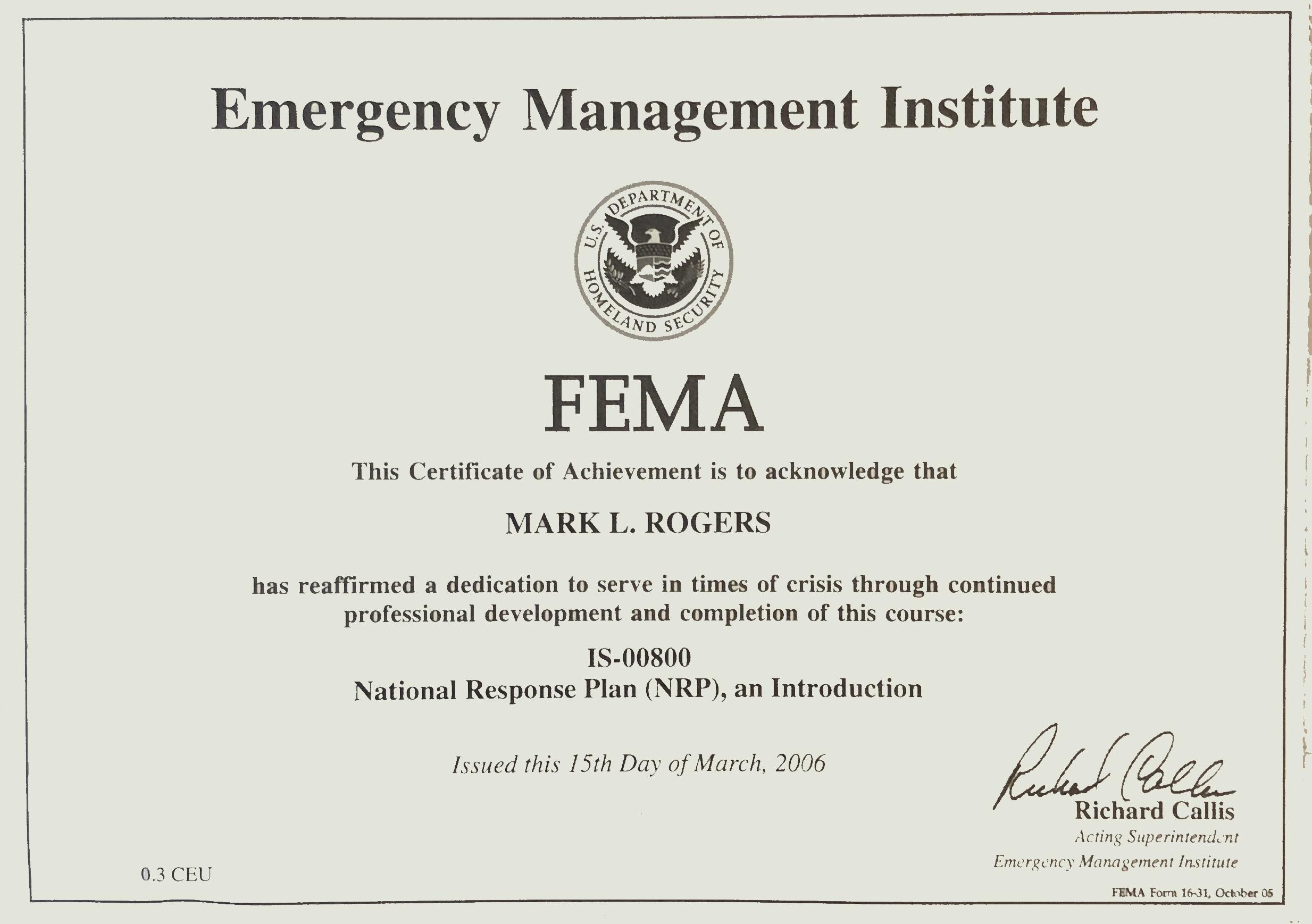 FEMA NRP