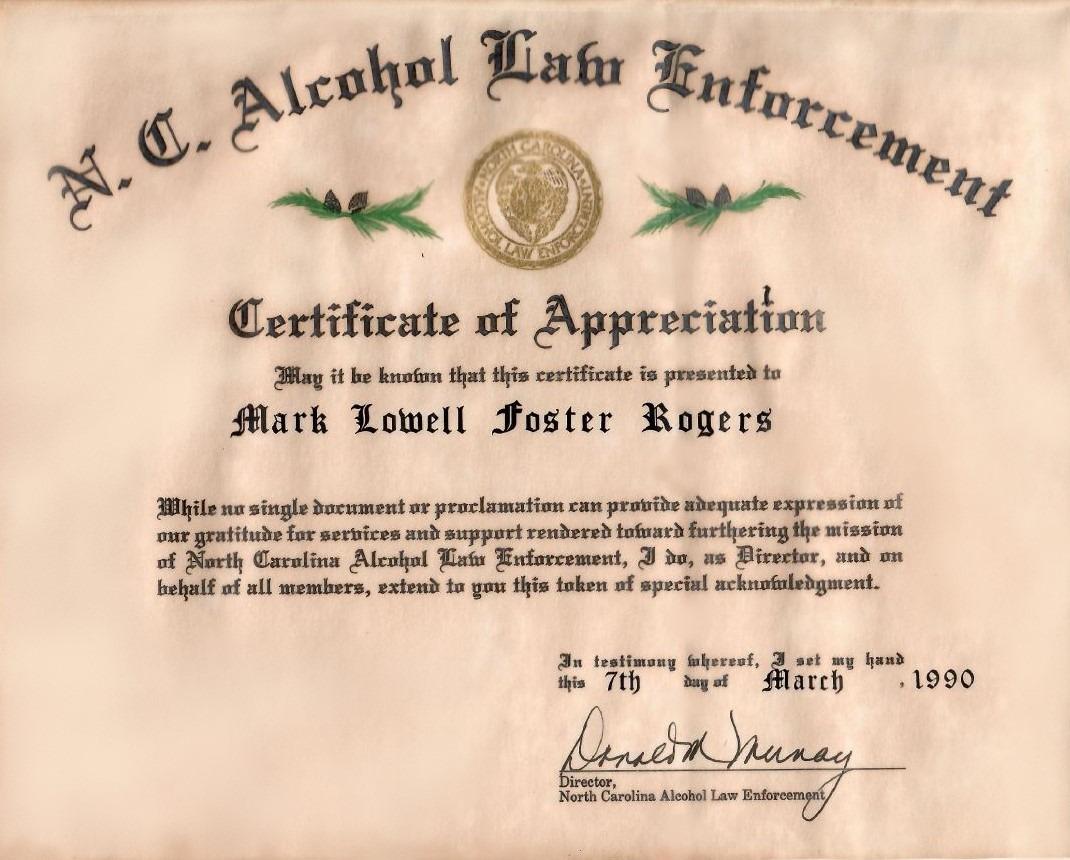 ALE Certificate