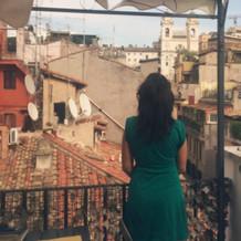 Widok na schody hiszpańskie, Rzym IX.'18