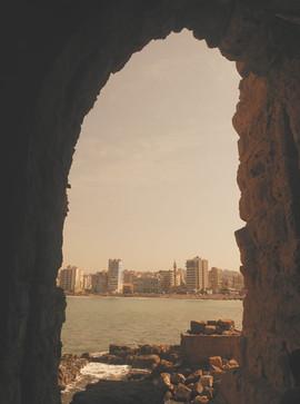 Widok z zamku w Sidon