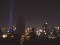 11 września 2019 - światła z World Trade Center