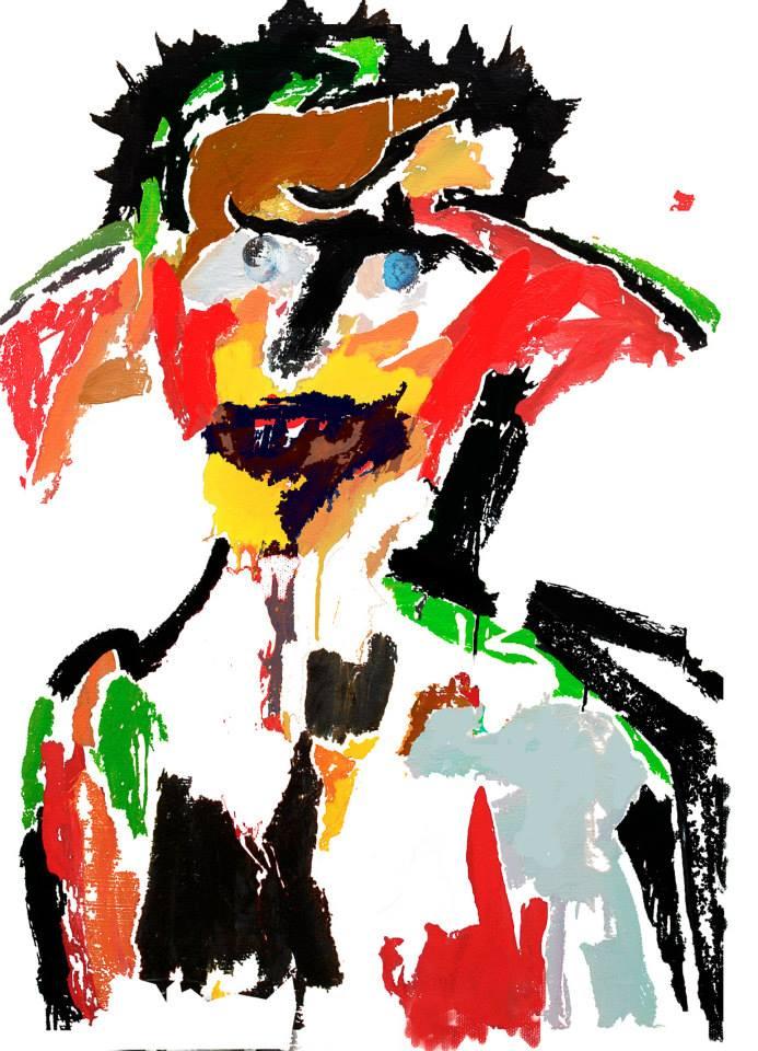 Autoportrait avec chapeau 2