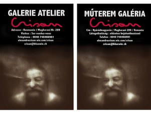 Ouverture de ma galerie atelier en Roumanie - 2016 - Műterem galéria megnyitása Romániaban