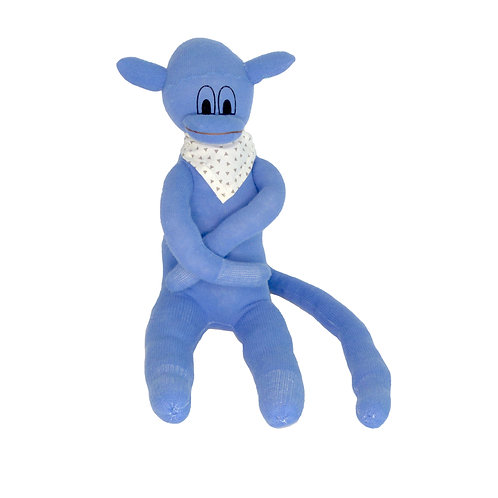 Doudou Singe bleu