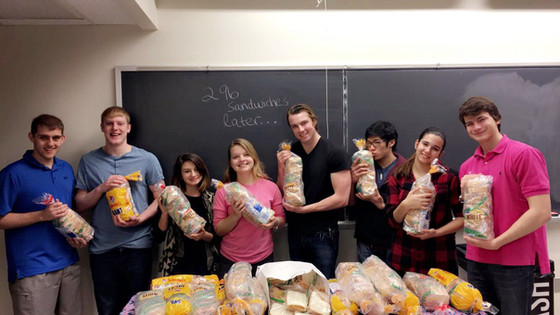 Almost 300 Sandwiches for St. Lawrence Haven