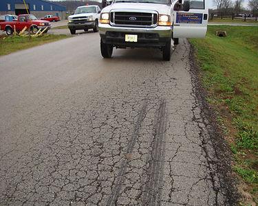 Alligator cracks in pavemet