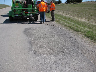 pothole repaired
