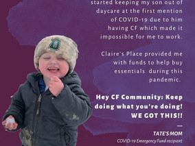 Claire's Place Foundation Launches COVID-19 Emergency Fund for People with Cystic Fibrosis