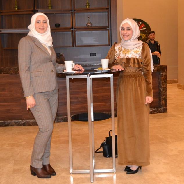 Dr. Samah Awad and colleague from Jordan