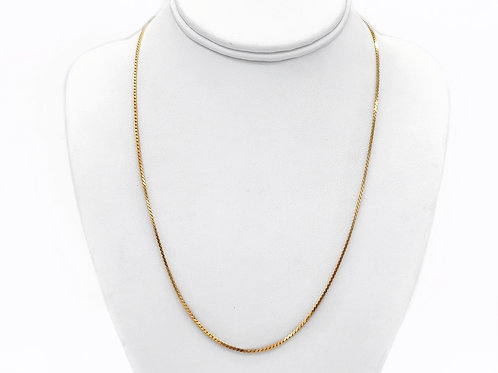 22K YELLOW GOLD CHAIN - 20.5""