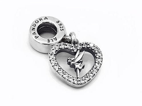 PANDORA DISNEY TINKERBELL HEART DANGLE CHARM