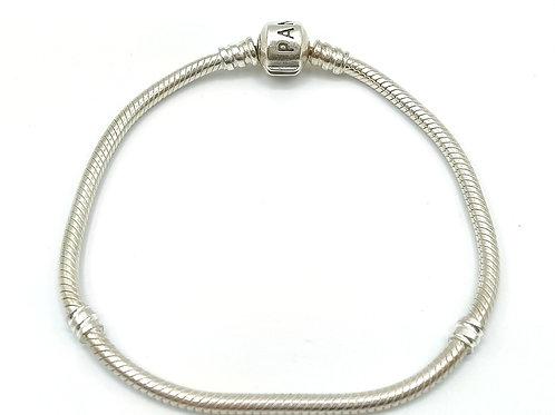 PANDORA STERLING SILVER 925 CLASSIC BARREL CLASP BRACELET
