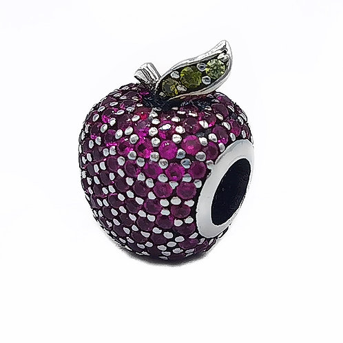 AUTHENTIC PANDORA RED PAVE APPLE SPACER CHARM #791485
