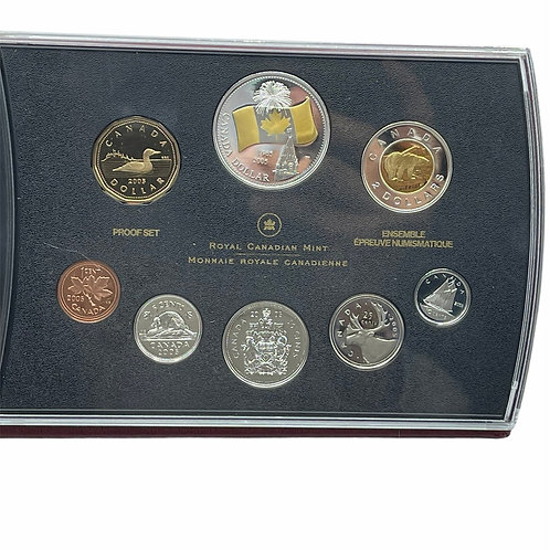 ROYAL CANADIAN MINT 2005 PROOF SET OF CANADIAN COINAGE - 8 coin set