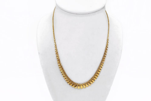 SILVER 10K GOLD PLATED NECKLACE - 16.5""