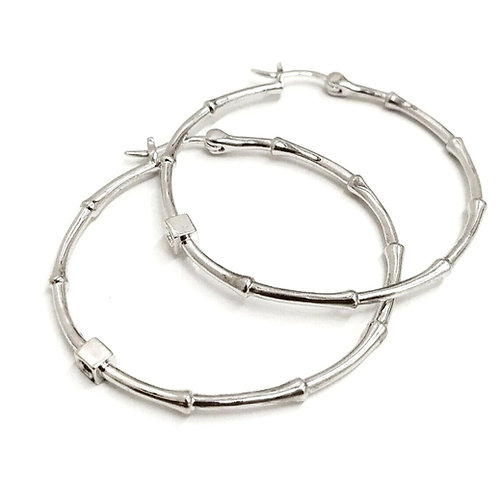 ELLE JEWELLERY STERLING SILVER 925 HOOP EARRINGS
