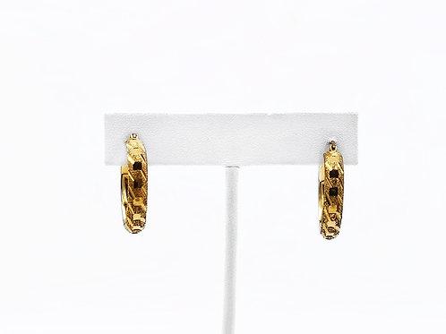 10K YELLOW GOLD ROUND HOOP EARRINGS