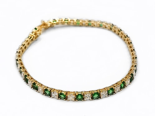 14K YELLOW GOLD BRACELET - 7.5""