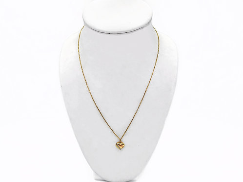 "14K YELLOW GOLD ""HEART"" NEACKLACE - 20"""