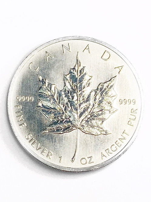 1oz $5 1999 CANADIAN FINE SILVER COIN