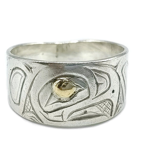 925 STERLING SILVER ART RING size 9