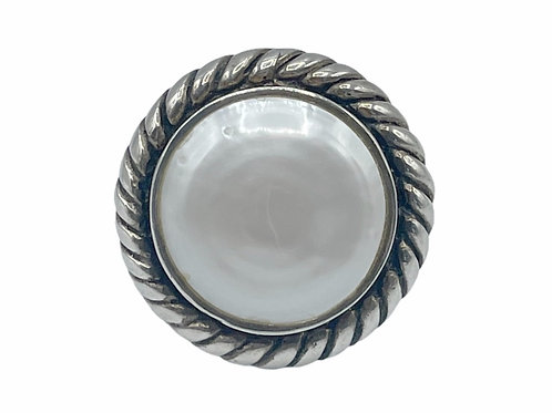 STERLING SILVER 925 RING WITH A STONE - size 7