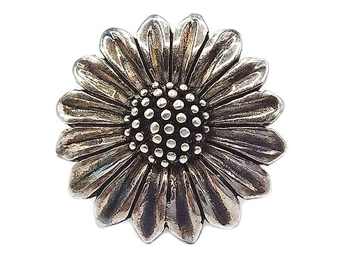 925 FLOWER SHAPED RING - size 6
