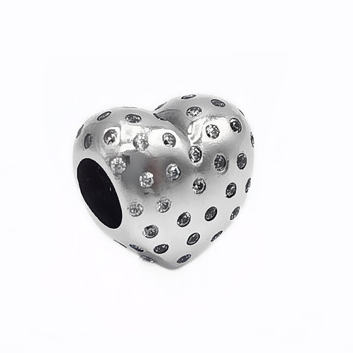 AUTHENTIC PANDORA HEART SPACER CHARM CZ