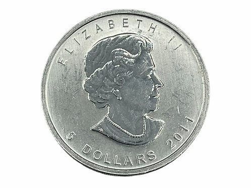 1 oz $5 2011 CANADIAN FINE SILVER