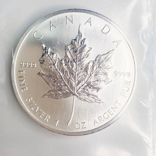 1oz 2007 $5 FINE SILVER CANADIAN COIN