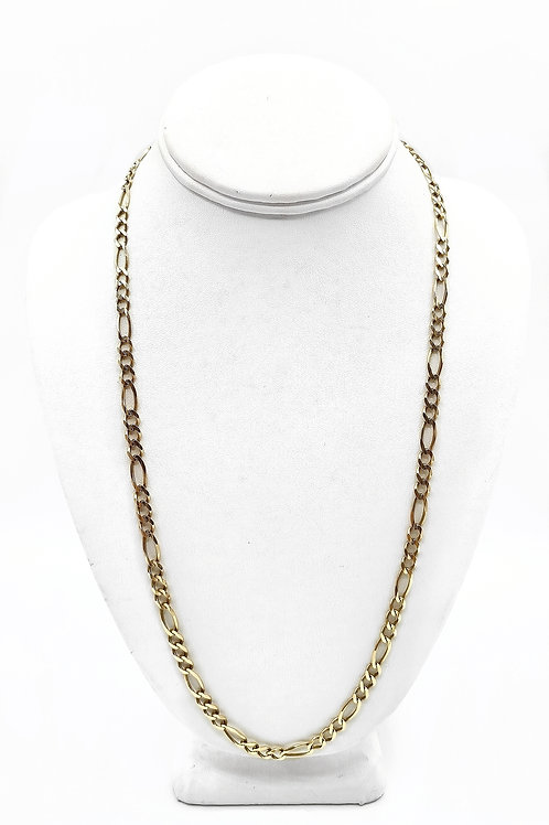 10K SOLID FIGARO STYLE MEN'S CHAIN - 25""