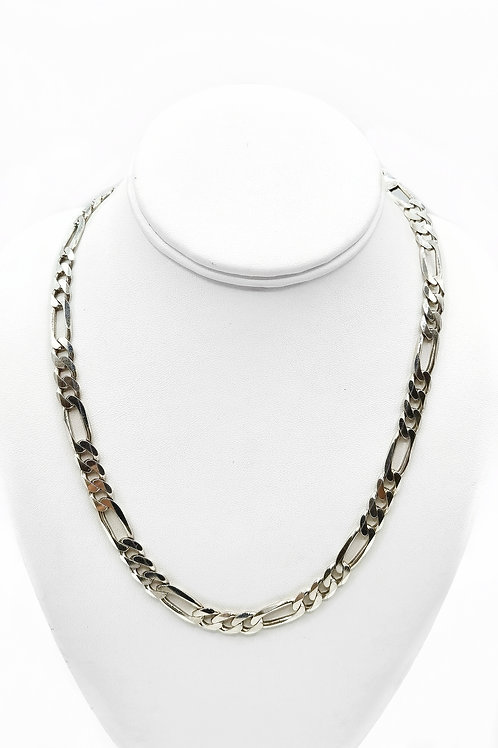 """925 STERLING SILVER FIGARO STYLE CHAIN - 20"""""""