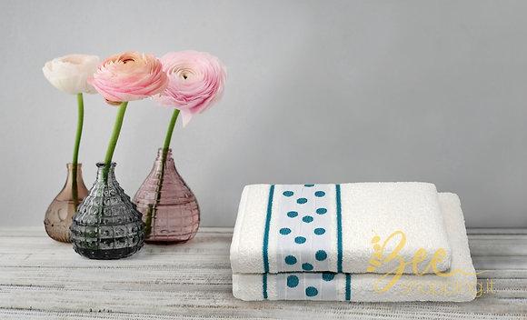 Set 2 asciugamani in spugna di cotone